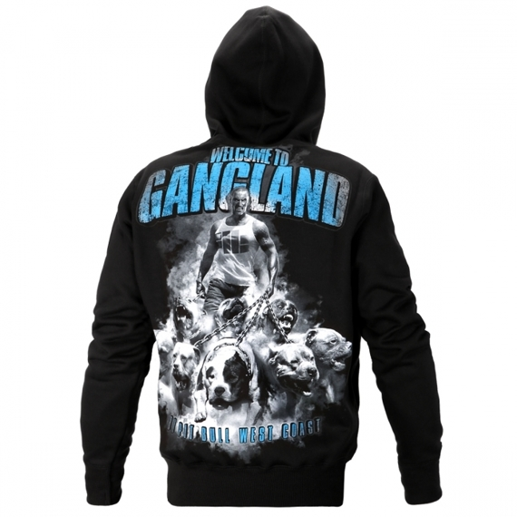 Pit Bull Bluza z kapturem WELCOME TO GANGLAND Czarna